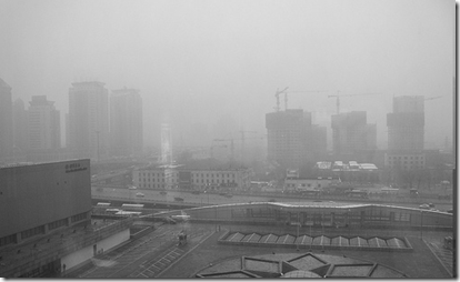 smog sobre Beijin