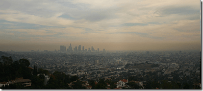 smog sobre Los Angeles