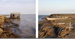 La erosión esta destrozando Alaska pedazo a pedazo