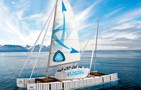 Un barco hecho de 12 mil botellas de plástico cruzará el Pacífico
