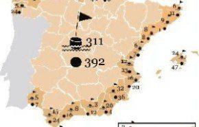 España tiene ya 311 banderas negras