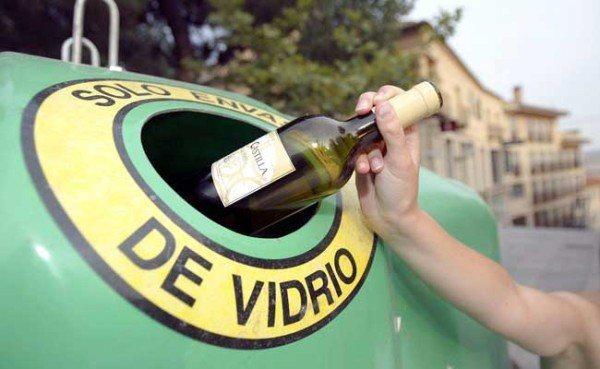 Reciclar en contenedor verde