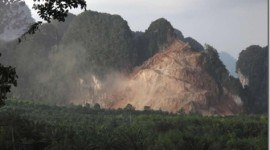 Montañas destruidas en Tailandia