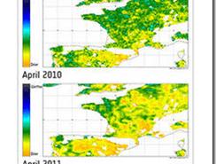 Sequia de Primavera en Europa