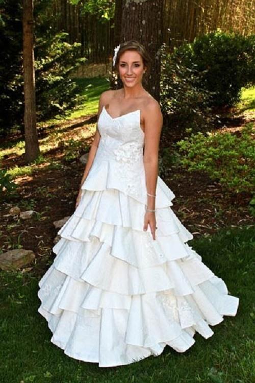 traje de novia ecologico