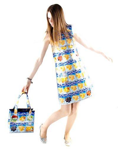 vestido-de-envases-de-zumo