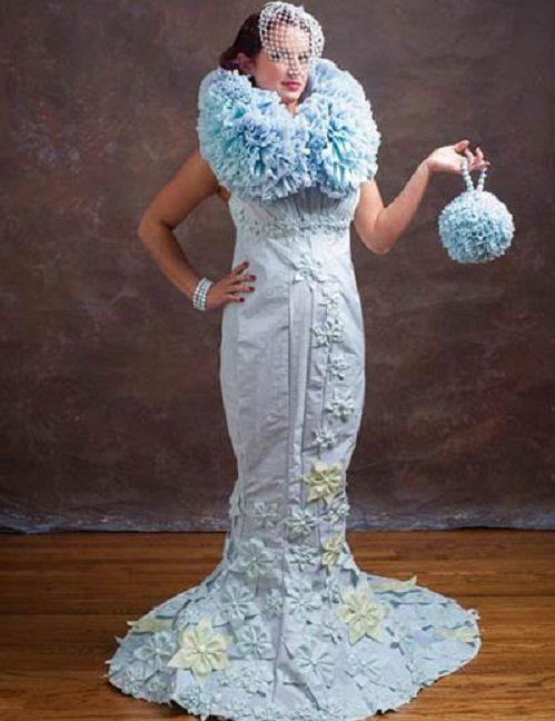 vestido novia papel