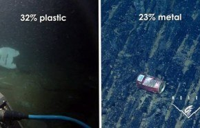 El lecho marino del océano está lleno de basura