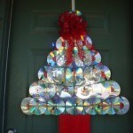decoracion-navidena-con-materiales-reciclados-arbol-navidad-cd-dvd - Decoraci�n Navide�a con materiales reciclados