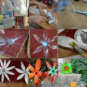 Ideas para reciclar botellas de plástico flores