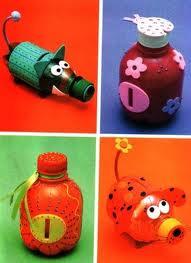 Ideas para reciclar botellas de plástico animales