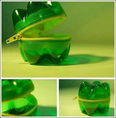 Ideas para reciclar botellas de plástico monedero