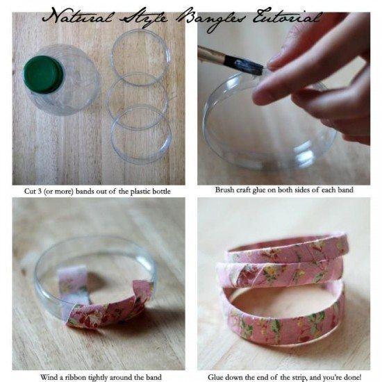 Ideas para reciclar botellas de plástico pulsera