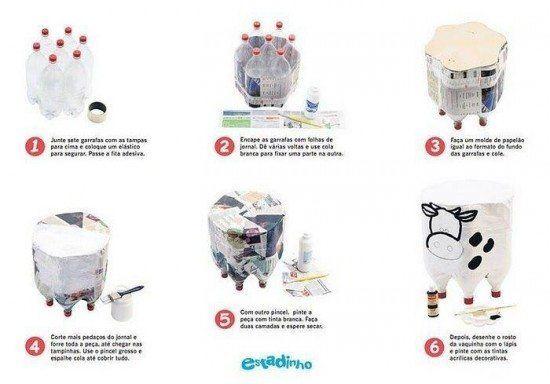 16-ideas-para-reciclar-botellas-de-plastico-taburete