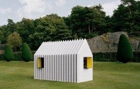 """Chameleon Cabin"" Una casa hecha de papel"
