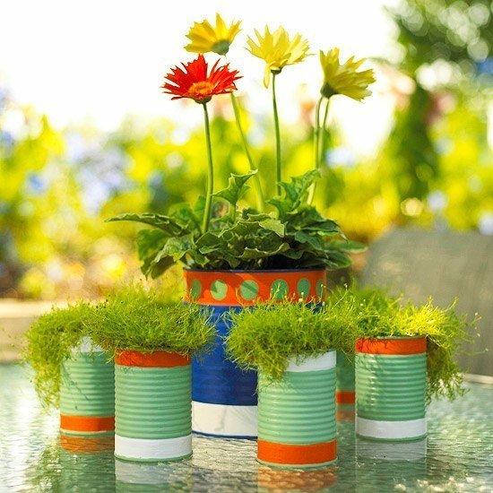 Macetas recicladas para el jard n for Jardines reciclados