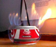Cómo hacer un hornillo o fogón con 2 latas de Coca-Cola