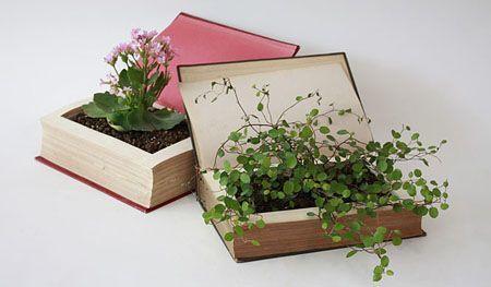 14-formas-curiosas-de-reciclar-cosas-viejas-maceta-con-libros