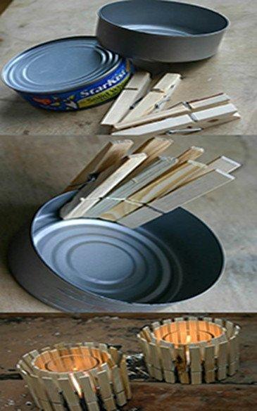 14-formas-curiosas-de-reciclar-cosas-viejas-portavelas-con-lata-y-pinzas-de-madera