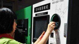 Pagar el viaje en el metro de Beijing con el reciclaje de una botella de plástico