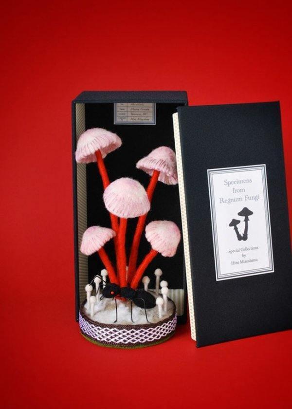 manualidades-con-fieltro-adorables-esculturas-setas-con.hormiga