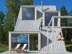 Casa de verano construida con materiales reciclados