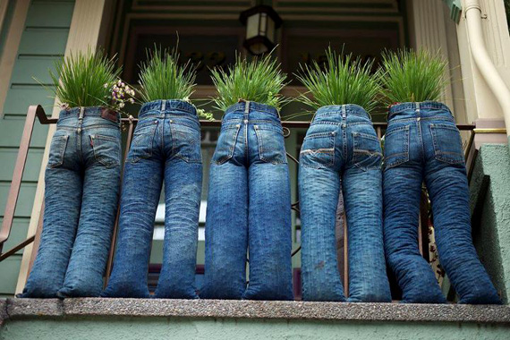 maceta pantalones vaqueros