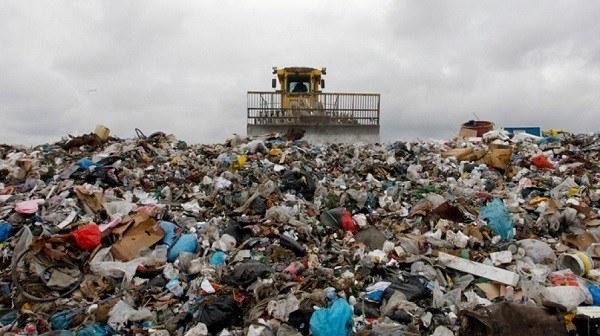 Vertedero materiales biodegradables