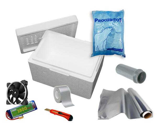 materiales aire acondicionado casero