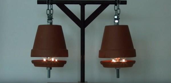 C mo crear un sistema de calefacci n con una maceta para calentar una habitaci n v deo - Como calentar la casa ...