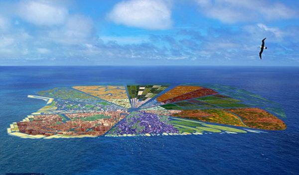 Isla de Plásticos.  Proyecto para crear una isla sólida de plásticos.