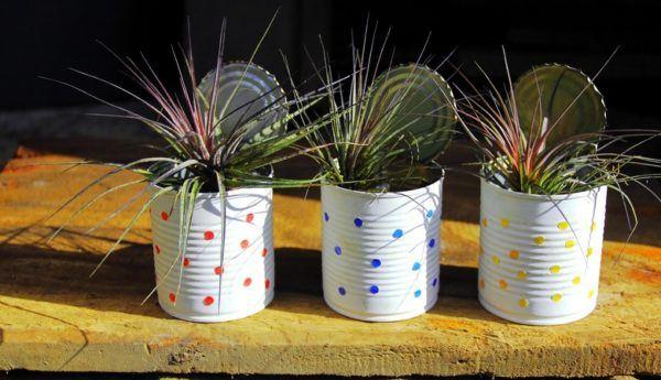 Macetas recicladas para el jard n for Casas decoradas con plantas naturales