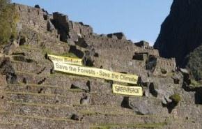 Greenpeace lleva sus protestas hasta el Machu Picchu