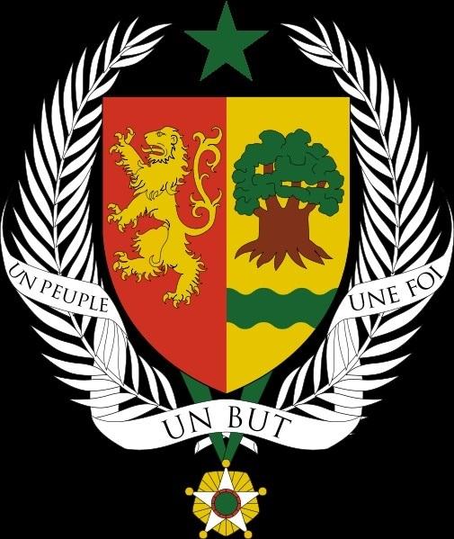 Escudo de Senegal con un Baobab, símbolo del país
