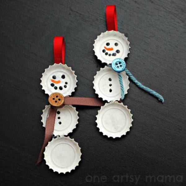Adornos navidenos material reciclado para ninos