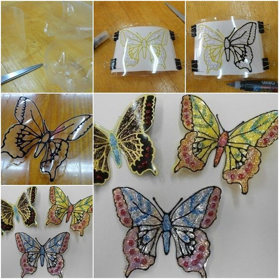 16-ideas-para-reciclar-botellas-de-plastico-mariposas