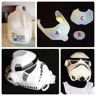 Ideas para reciclar botellas de plástico mascara star wars