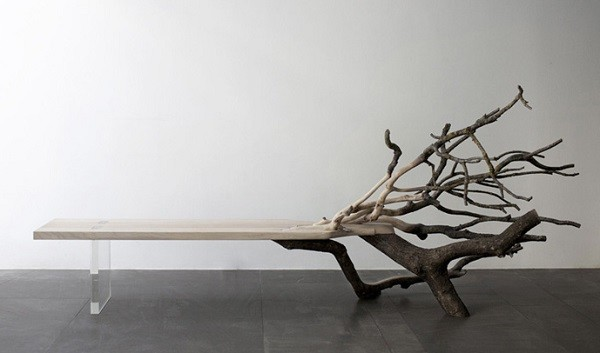 mesa ramas arbol