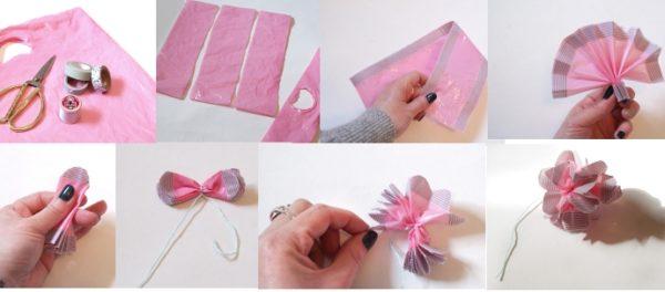 como-hacer-pompones-con-material-reciclado-plastico-proceso