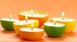 Cómo hacer velas aromáticas con cáscaras de fruta