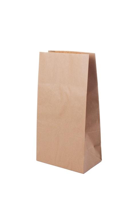 Bolsas de papel con elementos reciclados papel kraft