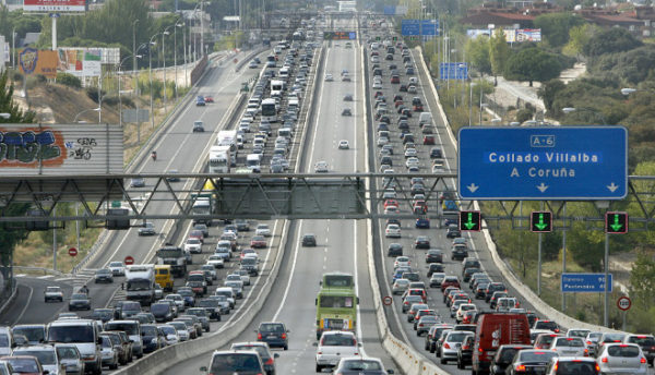 Contaminación Líneal producido por las emisiones del tráfico