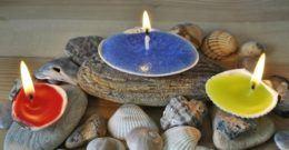 Cómo hacer velas decoradas con material reciclado