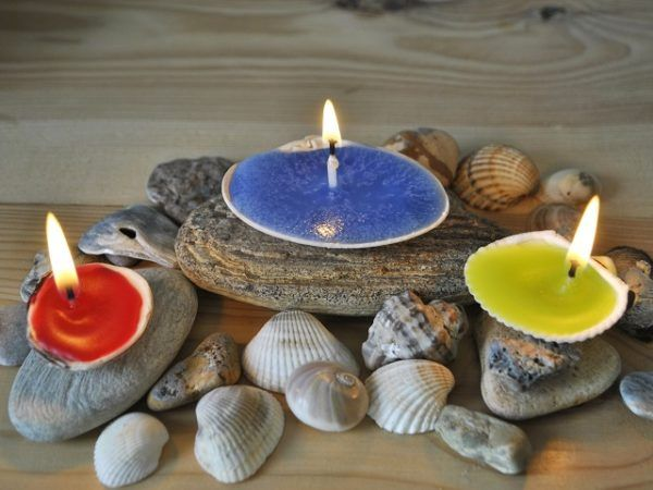 cmo hacer velas decoradas con materiales reciclados conchas - Velas Decoradas