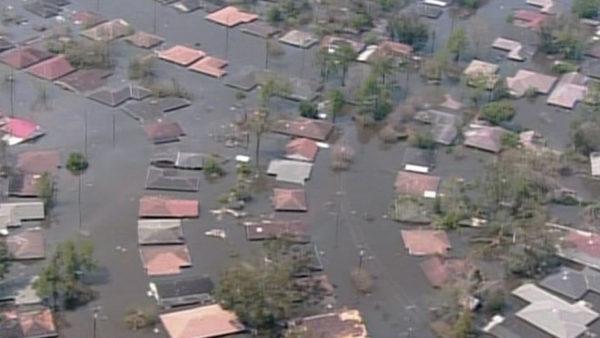 Imagen de Nueva Orleans tras el paso del huracán Katrina