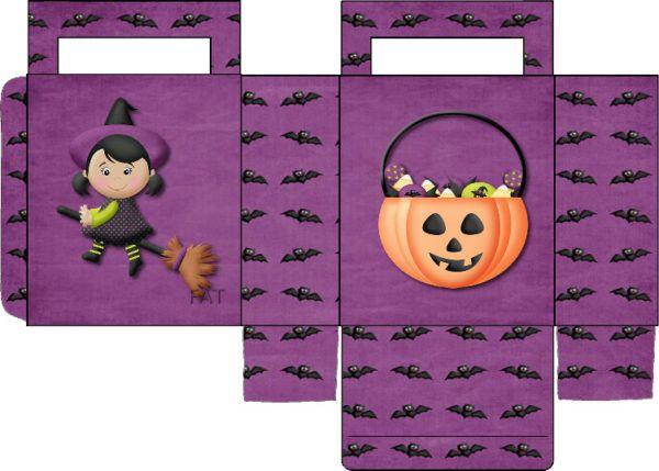 Manualidades fáciles de Halloween para niños caja dulce
