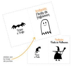 Manualidades fáciles de Halloween para niños invitación