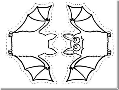 Manualidades fáciles de Halloween para niños recortable murciélago