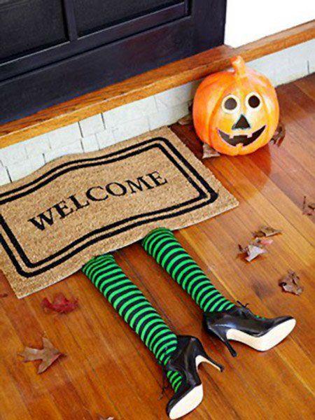 Manualidades fáciles de Halloween para niños felpudo bruja