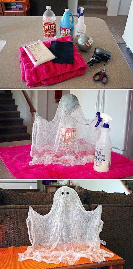 Manualidades fáciles de Halloween para niños fantasma real